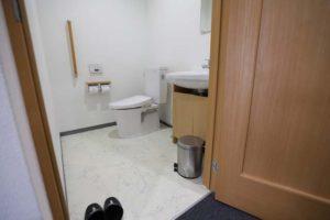 お手洗いのスペースも広くしています
